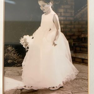 Gorgeous sz6 white flower girl/jr bridesmaid/commu